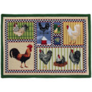 Roosters Chic Rectangular Rug