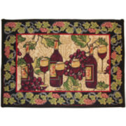Tuscan Wine Rectangular Rug
