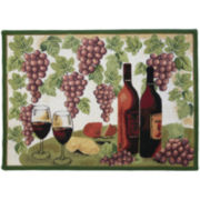 Wine Table Rectangular Rug