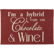 Chocolate & Wine Rectangular Rug