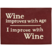 Wine Improves Rectangular Rug