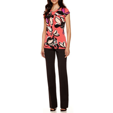 jcpenney.com | Worthington® Twist-Front Blouse or Straight-Leg Pants