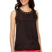 Worthington® Sleeveless Grommet Top