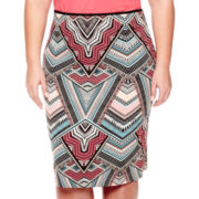 Bisou Bisou® High-Waist Scuba Skirt - Plus