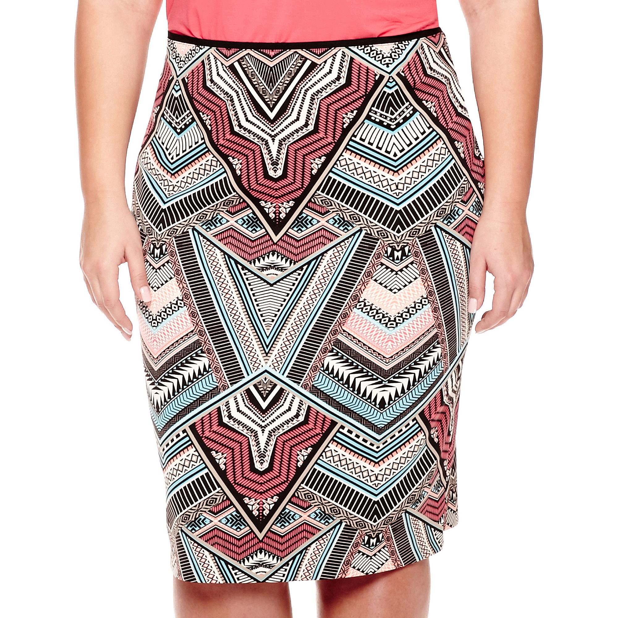Bisou Bisou High-Waist Scuba Skirt - Plus