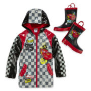 Disney Collection Cars Hooded Raincoat or Rain Boots - Boys