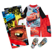 Disney Collection Cars Rash Guard, Swim Trunks, Flip Flops or Towel