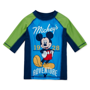 jcpenney.com | Disney Collection Mickey Rash Guard - Boys 2-8