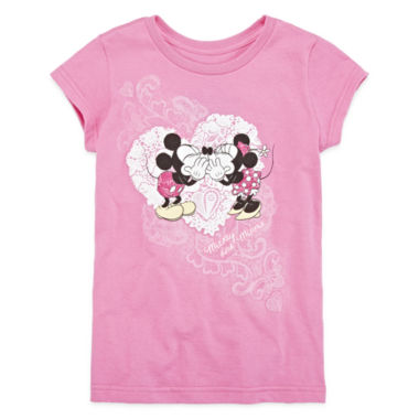 jcpenney.com | Disney Collection Mickey and Minnie Mouse Graphic Tee - Girls 2-10