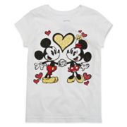 Disney Collection Mickey and Minnie Love Graphic Tee - Girls 2-10