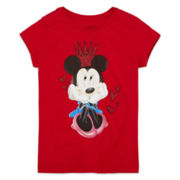 Disney Collection Minnie Mouse Crown Graphic Tee - Girls 2-10