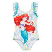 Disney Collection Ariel 1-pc. Swimsuit - Girls 2-10