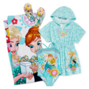 Disney Collection Frozen 1 pc. Swimsuit, Cover-Up, Flip Flop or Towel