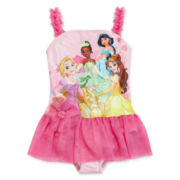 Disney Collection Princess One-Piece Swimsuit Girls 2-10