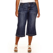 Stylus™ Denim 5-Pocket Culotte Pants - Plus