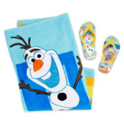 Disney Collection Olaf Flip Flops or Towel