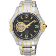 Seiko® Coutura Mens Two-Tone Skeleton Watch