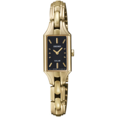 jcpenney.com | Seiko® Womens Gold-Tone Solar Watch SUP166