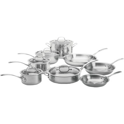 calphalon triply 13pc stainless steel cookware set