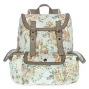 Olsenboye® Floral Backpack with Braided Trim