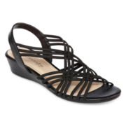 St. John's Bay® Recently Strappy Wedge Sandals