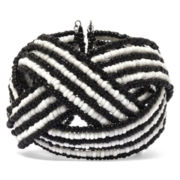 Mixit™ Black and White Seed Bead Cuff Bracelet