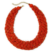 Mixit™ Orange Seed Beads Woven Necklace