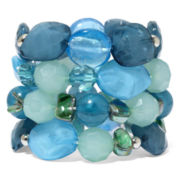 Mixit™ 4-pc. Multi-Tone Blue Beads Stretch Bracelets