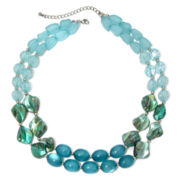 Mixit™ Two-Strand Blue Bead and Shell Necklace
