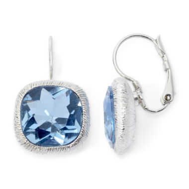 jcpenney.com | Monet® Silver-Tone Blue Leverback Earrings