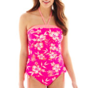 Arizona Floral Print Bandeaukini Swim Top