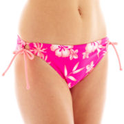 Arizona Floral Print Keyhole Hipster Swim Bottoms - Juniors