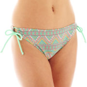 Arizona Tribal Print Keyhole Hipster Swim Bottoms - Juniors