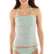 Arizona Striped Polka Dot Bandeaukini Swim Top - Juniors