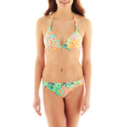 Arizona Floral Print Halter Swim Top or Side-Tab Hipster Bottoms