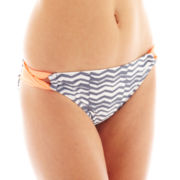 Arizona Zigzag Print Side-Loop Hipster Swim Bottoms - Juniors