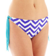 Arizona Chevron Print Fringe Hipster Swim Bottoms - Juniors