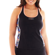 Zero Xposur® Racerback Tankini Swim Top - Plus