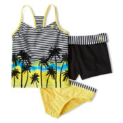 ZeroXposur® 3-pc. Swimsuit - Girls 6-16 and Plus