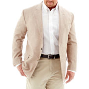 Stafford® Khaki Linen-Cotton Sport Coat-Big & Tall