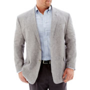 Stafford® Gray Linen-Cotton Sport Coat-Big & Tall