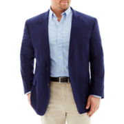 Stafford® Linen-Cotton Sport Coat - Portly Fit