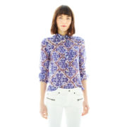 Joe Fresh™ Silk-Blend Print Shirt