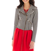 Olsenboye® Mason Striped Moto Jacket