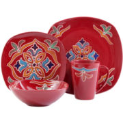 Medallion Soft Square 16-pc. Dinnerware Set