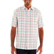 The Havanera Co.® Linen-Cotton Blend Button-Front Shirt