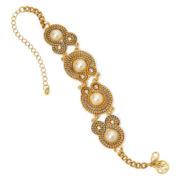 Gemma Simone™ Simulated Pearl Two–Tone Bracelet