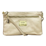 nicole by Nicole Miller® Natalie Reversible Clutch Crossbody Bag