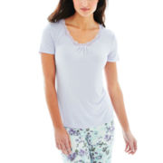 Ambrielle® Short-Sleeve Sleep Tee or Knit Pants