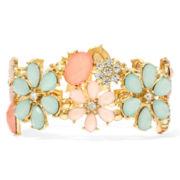 Decree® Crystal-Accented Flower Stretch Bracelet